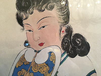 A Large and Important Chinese Watercolor Painting on Paper, Artist Signed.