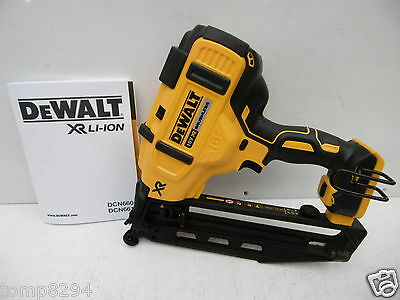 Dewalt Xr 18V Dcn660 2Nd Fix Nailer Bare Unit + Concealer Goggles