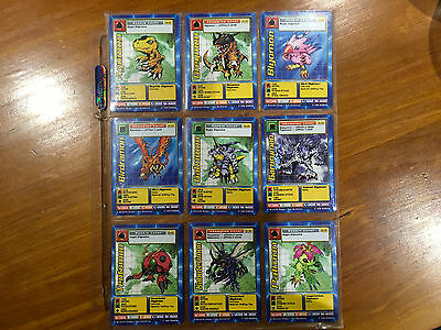 Digimon Starter Set Trading Cards St-01 to St-62 - Complete 1st edition