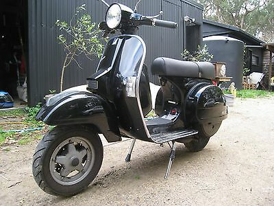 VESPA PX200E Disc Brake Black LOW KMS RWC REG