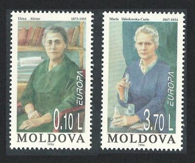 Moldova Famous Women Paintings Europa CEPT 2v SG#220/21