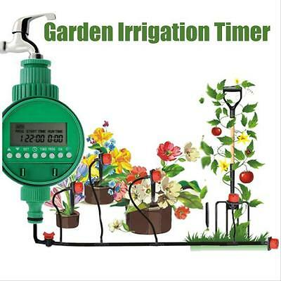 Garden Automatic Irrigation Controller Timer Water Program System F7#