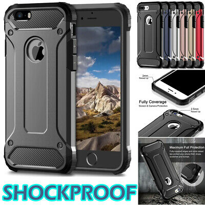 Hybrid Armor Shockproof Rugged Bumper Case For iPhone X XS Max XR 8 7 6s Plus 5s