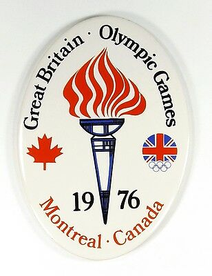 GREAT BRITAIN OLYMPIC GAMES MONTREAL CANADA 1976 - Ceramic Coaster 15cm x 11cm