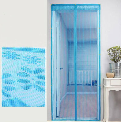 Screen Door Magnetic-stripe Mesh convenient Mosquito Insect Fly Guard Curtain