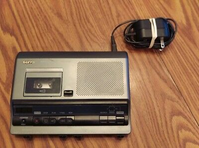 Sanyo Memo-Scriber Microcassette Transcriber TRC-6030 w/ Power Supply Adapter