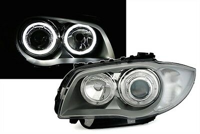 Phare Angel Eyes Bmw Serie 1 E81 E87 09/2004-10/2011 Led Blanc