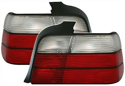 2 Feux Arriere Bmw Serie 3 E36 Berline 1990-1998 325Is 325Td 325Ia Blanc Rouge