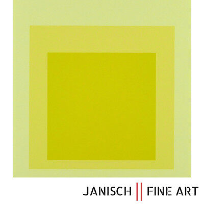 "JOSEF ALBERS - ""Hommage to the Square"", handsigniert, Auflage 125, 1970! 55x55cm"