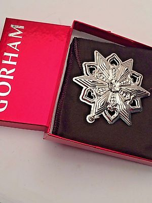 Gorham 46th Edition Snowflake Ormanent  2015 Sterling Silver NEW