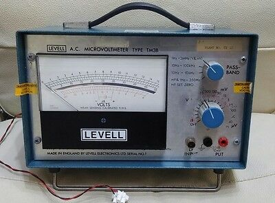 Levell TM3B A.C. microvoltmeter. db scale, volt meter.