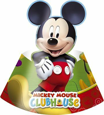 6pk Playful Mickey Die-Cut Hats Children's Birthday Party Favours Gifts