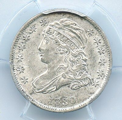 1830 Capped Bust Dime, Medium 10C Variety, PCGS AU 55