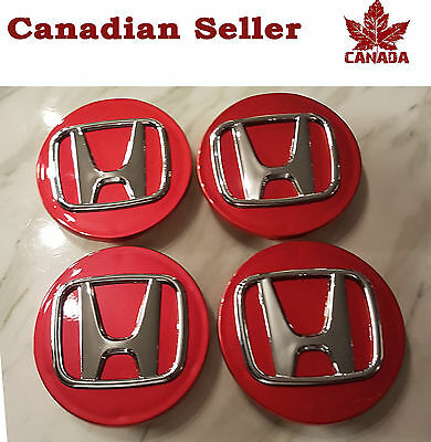 "Honda Wheel Center Cap - Red 69 mm (2.75 "") - All Models Civic Accord Pilot etc."