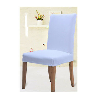 White Seat Covers Kitchen Bar Dining Thicken Chair Cover Hotel Wedding Decor