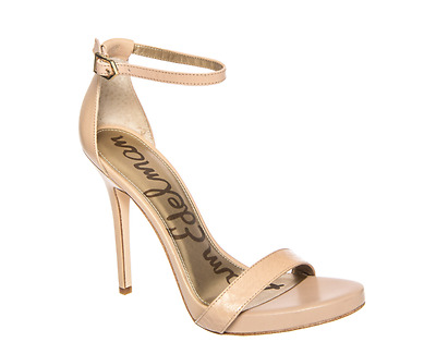 3816bc13d4a29 Sam Edelman Women s Leather Eleanor Buff Nude Ankle Strap High Heels 4265  Sz 9.5