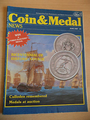 OLD VINTAGE 1980s COIN AND MEDAL NEWS MAGAZINE COLLECTORS MILITARY CHEST ju 1987