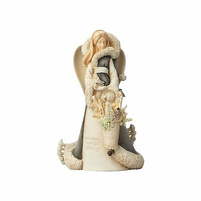 Enesco H7 Foundations Christmas 9in Woodland Angel Deluxe Figurine 4058711