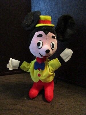 Vintage Plush Mickey Mouse - WALT DISNEY PRODUCTIONS - Made in Japan
