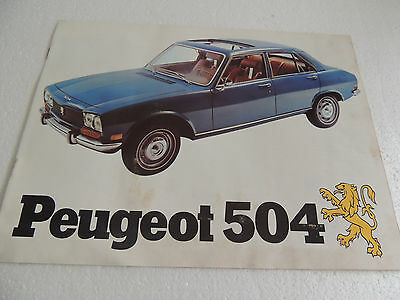 1972 Peugeot 504 304 & Wagon Sales Brochure