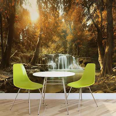 WALL MURAL PHOTO WALLPAPER XXL Waterfall Forest Nature Sun (10470WS)