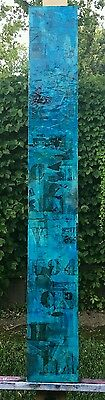 Original Totem Abstract Mixed Media Textured  Painting  by K.A.Davis
