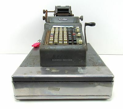Vintage R.C. Allen Cash Register Mercantile Antique Adding Machine