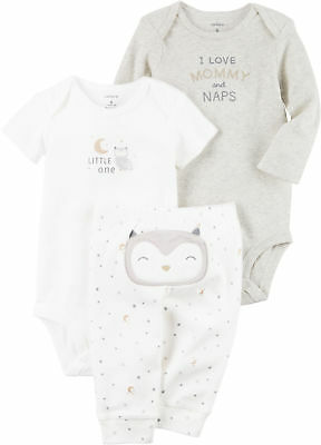Carters Baby Girls 3-pc. Owl Naps Layette Set