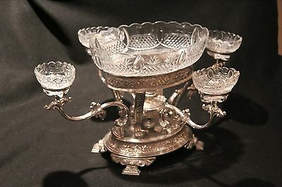 Antique Elkington & Co. Silver P Epergne Centerpiece