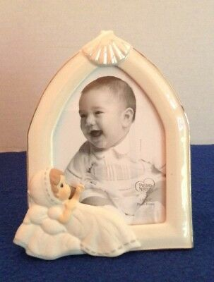 """Precious Moments Baptism Photo Frame 3.5"""" X 5"""" Stand Up"""