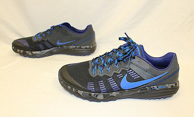 brand new aef4a a0e9b Nike Dual Fusion Trail 2 Men s Running Shoes Black Blue 819146-004 Size 11.5