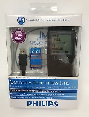 Philips LFH9375 Pocket Memo Digital Speech Voice Recorder w/ Memory Card.NEW!!