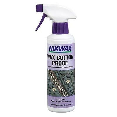 Nikwax Wax Cotton Proof Spray On Waterproofing for Waxed Clothing 300ml