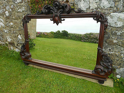 Very large Ornate Victorian Carved Mahogany Mirror.