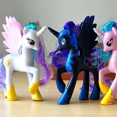 14CM My Little Pony Cake Toppers PVC Kids Girls Toys Gift Figurines Decoration G