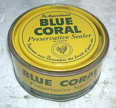 Lincoln Mercury Blue Coral can - 1940s ?
