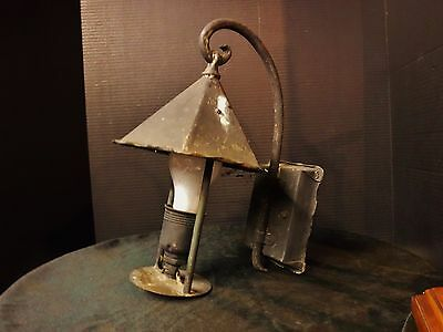 Antique Bradley & Hubbard Arts & Crafts Copper Wall Sconce Porch Outdoor