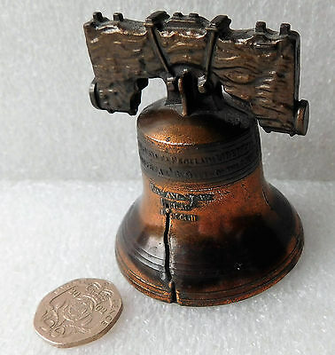 """Liberty bell small handbell ornament symbol of American independence 2.5"""" tall"""