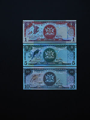 TRINIDAD and TOBAGO BANKNOTES  2006  SET OF  3       p46 - p48  QUALITY MINT UNC