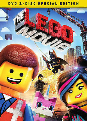 The LEGO Movie (DVD, 2014, 2-Disc Set, Special Edition) Discs Only-Free Shipping