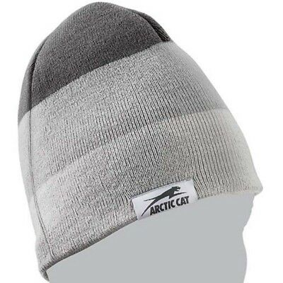Arctic Cat Gray Three Stripe Knit 100% Acrylic Aircat Logo Beanie Gray 5283-110