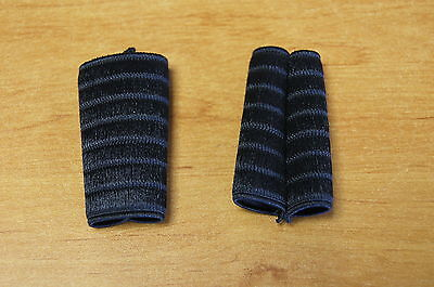 Pair of protections for loops of shoulder straps, belts accordion