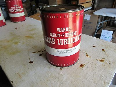 Vintage Empty 5 lb size Wards Grease Oil Can   Lot 17-42-0-C