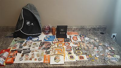Huge Lot of Home Depot Pins and Patches kids workshop 15 year collection Ge more