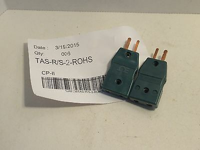 (Lot Of 2) Omega Tas-R/s-2-Rohs Plat-Rh+ Thermocouple Connectors New