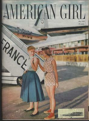 American Girl Magazine May 1957 Summer Fun/Reader's Recipes/Camping/Science