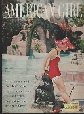 American Girl Magazine June 1957 Tuesday Weld on Cover/Swimming/Summer Fashion
