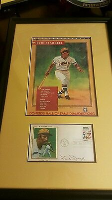1984 Roberto Clemente First Day Hall Of Fame Stamp, Signed By Willie Stargell