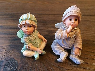 (2) The Boyds Collection Faerietots Figures Wunder and Lovey