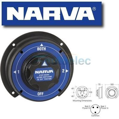Narva Dual Battery Master Switch Marine Boat Heavy Duty System Agm 61090